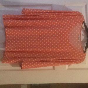 Susan Graver Liquid Knit top size xl